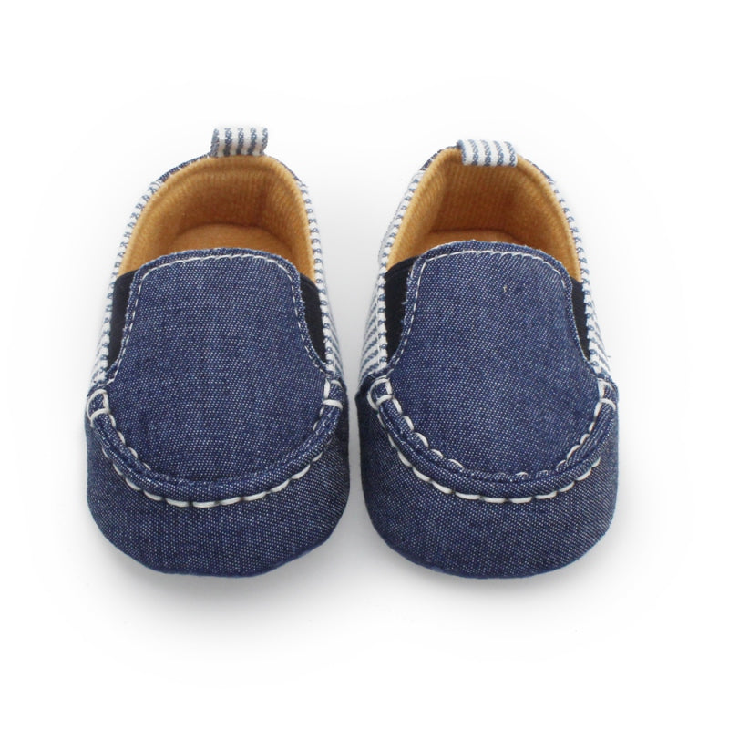 Denim Striped Boat Shoes - Shoes - baby-petite