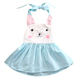 Blush Bunny Ribbon Tied Dress - Dresses - baby-petite