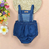 Denim Fox Polka Romper - Rompers - baby-petite