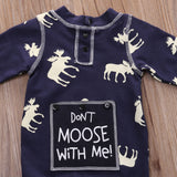 Don't Moose With Me Deer Romper - Rompers - baby-petite