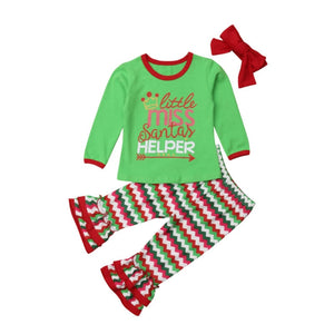 Little Miss Santa's Helper Top & Pants Set