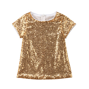 Gold Sequin Diva Dress - Kids Petite - Baby & Kids Clothing