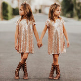 Gold Sequin Diva Dress - Dresses - baby-petite