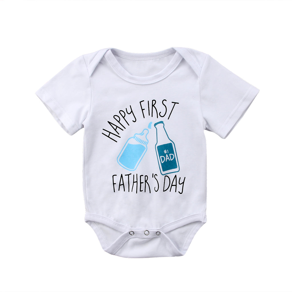 Happy First Fathers Day Romper - Kids Petite - Baby & Kids Clothing