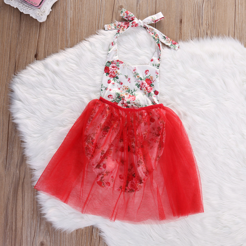 Summer Bloom Princess Tulle Romper - Rompers - baby-petite