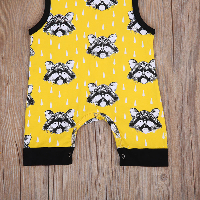 The Yellow Raccoon Romper - Rompers - baby-petite