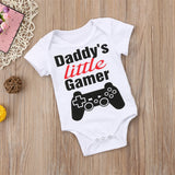 Daddy's Little Gamer Romper - Rompers - baby-petite