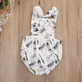 Gentle Feather Monochrome Romper - Rompers - baby-petite