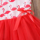 Flamingo Red Princess Tulle Dress - Dresses - baby-petite