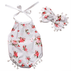 Blooming Flowers Floral Headband Romper
