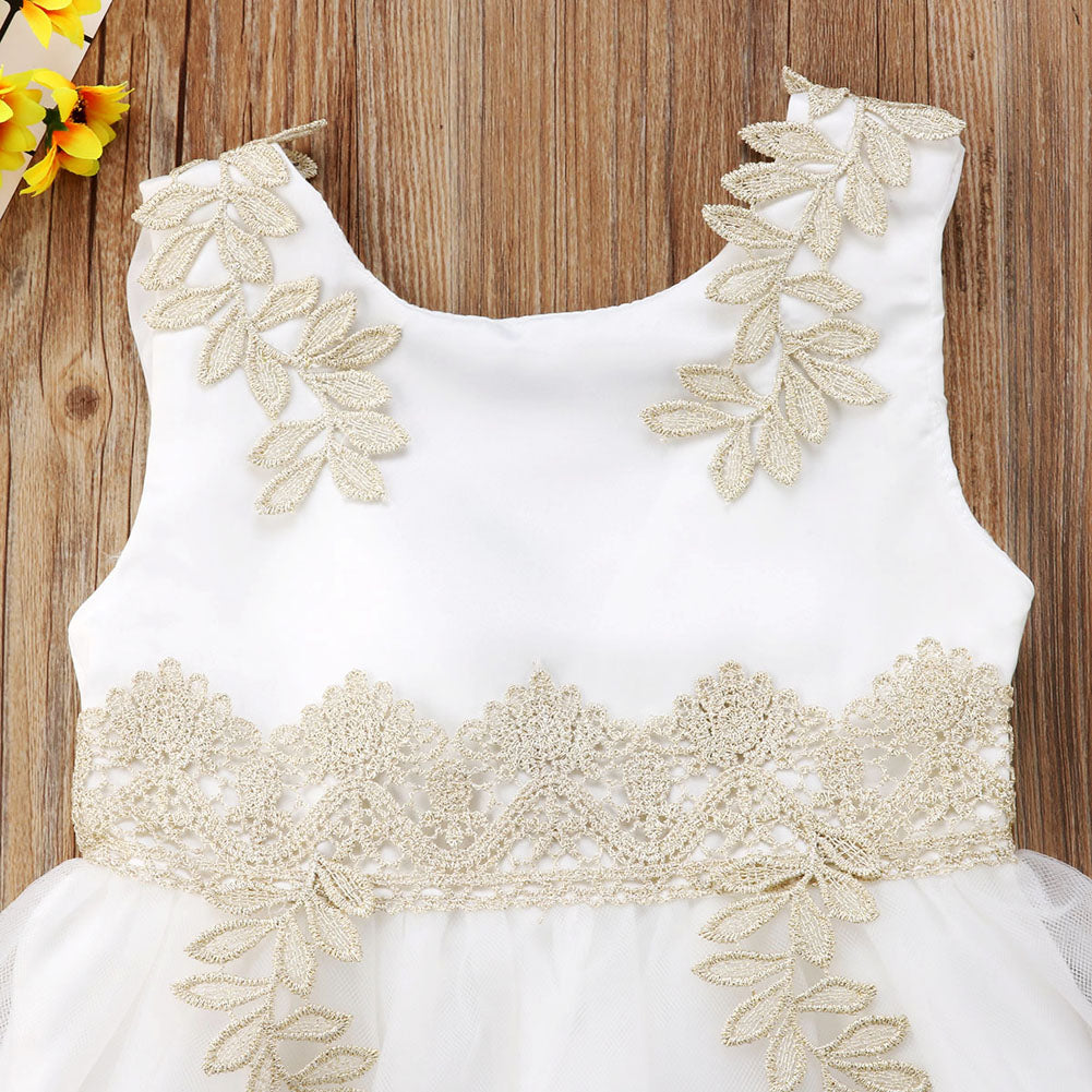 Snowy White Princess Tulle Dress - Baby Petite - Dresses
