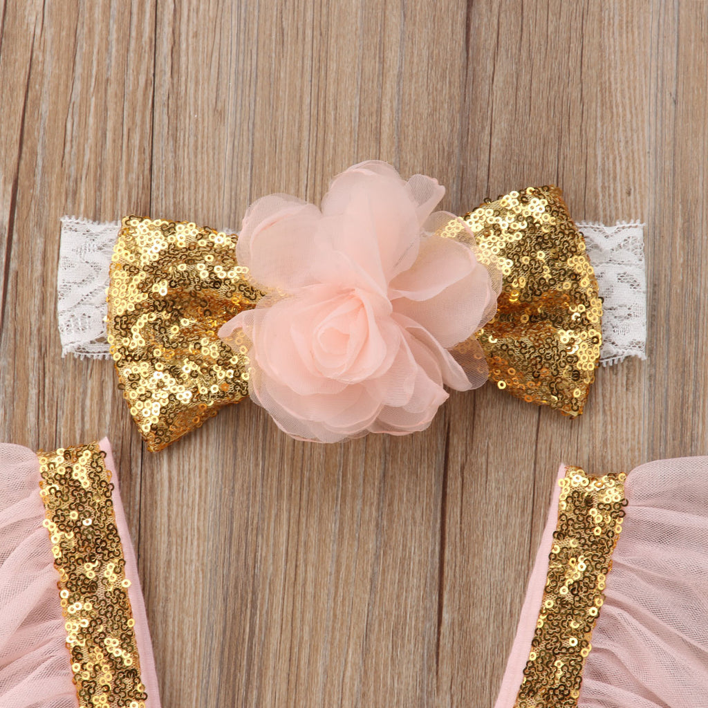 Golden Sequin Fairy Princess Tutu Dress - Dresses - baby-petite