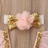 Golden Sequin Fairy Princess Tutu Dress
