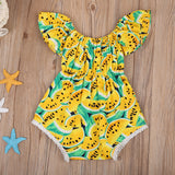 Yellow Juicy Watermelon Romper - Rompers - baby-petite