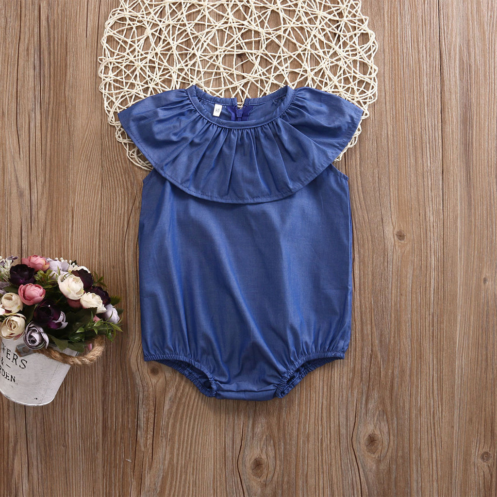 Basic Flare Sunsuit Romper - Rompers - baby-petite