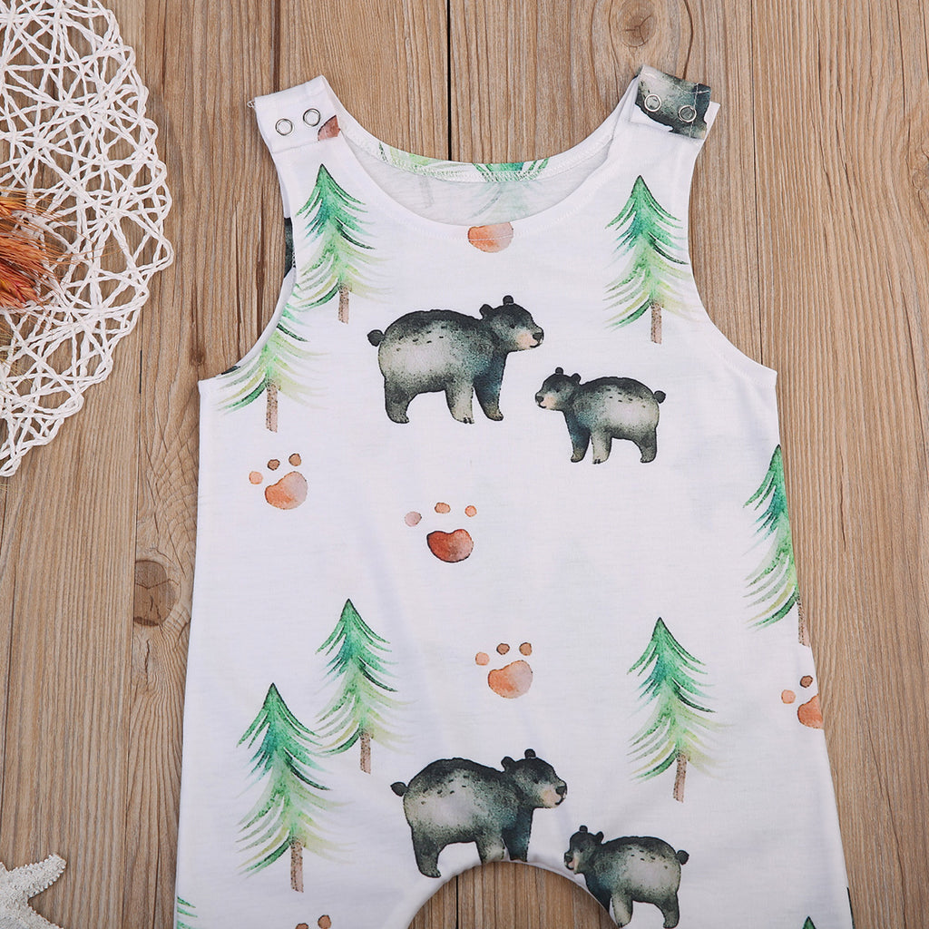 Happy Bear Camper Romper - Rompers - baby-petite
