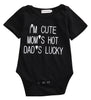 Mom's Hot Dad's Lucky Romper