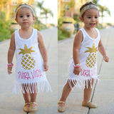 Pura Vida Golden Pineapple Fringe Dress - Dresses - baby-petite