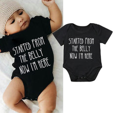 Started From The Belly Now I'm here Romper
