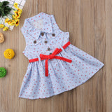 Falling Petals Striped Ribbon Tied Dress - Dresses - baby-petite