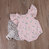 Pink Fluffy Swan Romper - Rompers - baby-petite