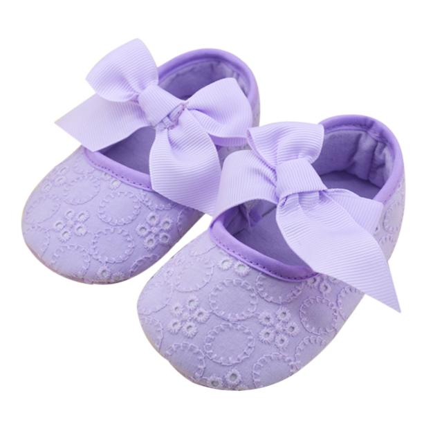Floral Bow Knot Soft Bottom Shoes - Shoes - baby-petite