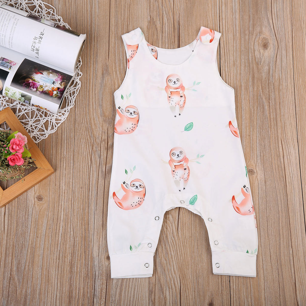 Happy Tree Sloth Romper - Rompers - baby-petite