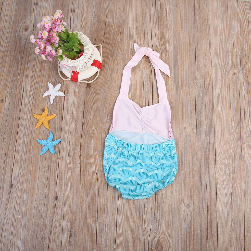 Sequin Mermaid Wave Romper - Rompers - baby-petite