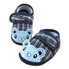 Happy Bear Plaid Strap On Shoes