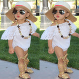 Powder White Sweety Ruffle Romper - Rompers - baby-petite