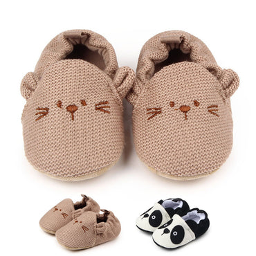 A Cartoon Zoo Bear Panda Slip On Shoes