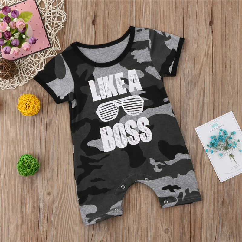 Like A Boss Shades Camo Romper - Rompers - baby-petite
