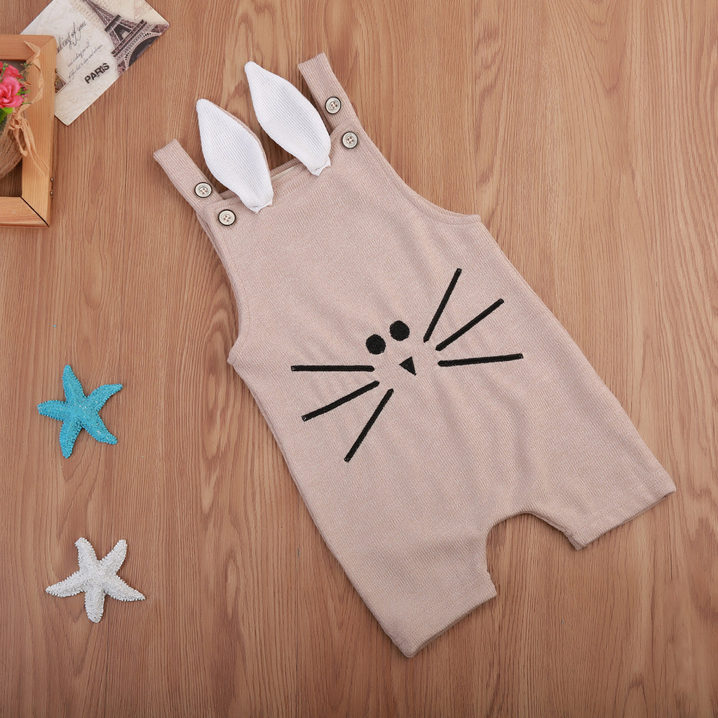 Bunny Whiskers Romper - Rompers - baby-petite