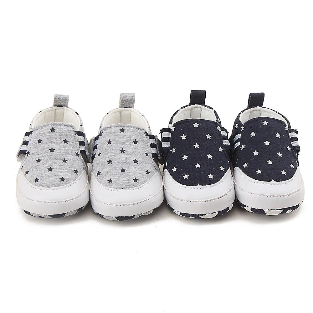 Starry Striped Strap Shoes - Shoes - baby-petite