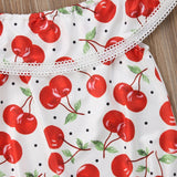 The Cherry Red Sunsuit Romper - Baby Petite - Rompers