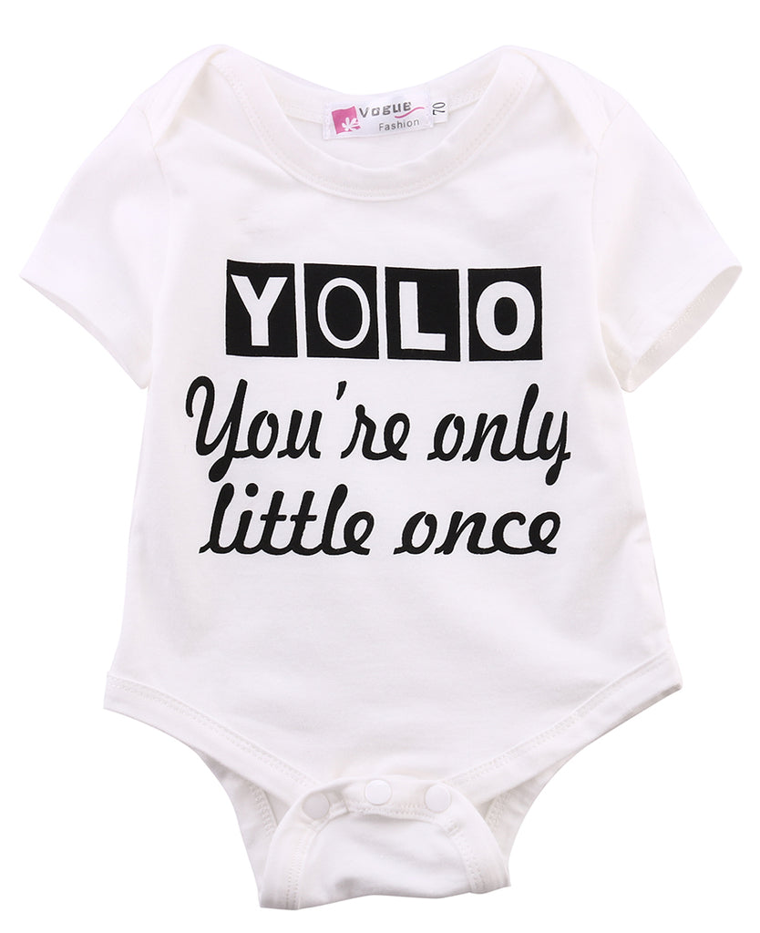 YOLO You're Only Little Once Romper - Rompers - baby-petite