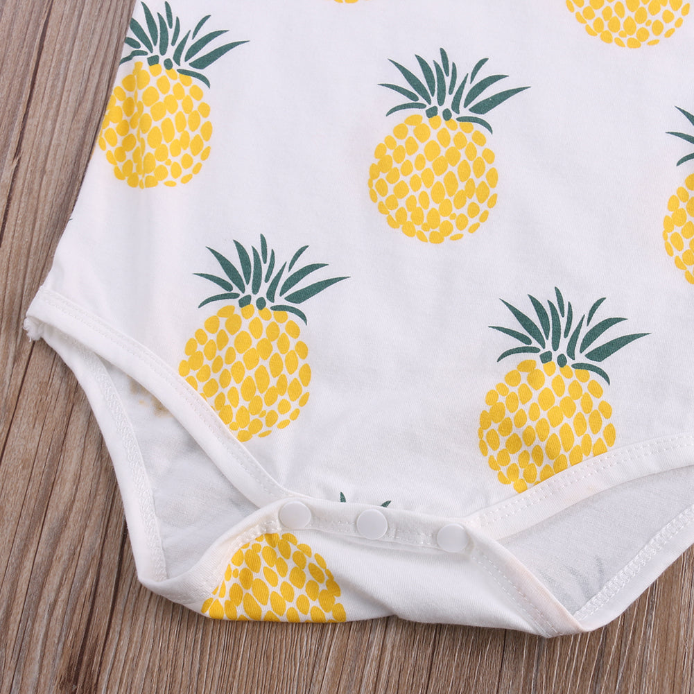 Funky Yellow Pineapple Romper - Rompers - baby-petite