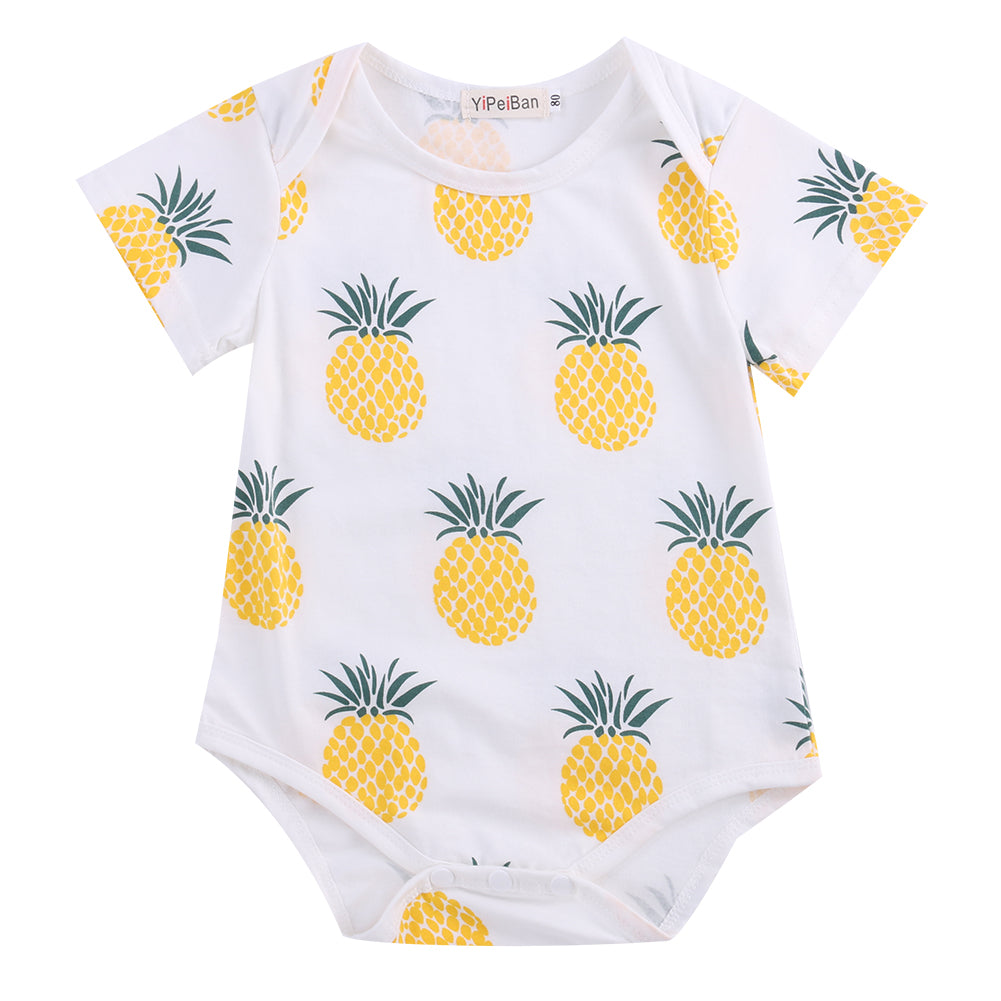 Funky Yellow Pineapple Romper