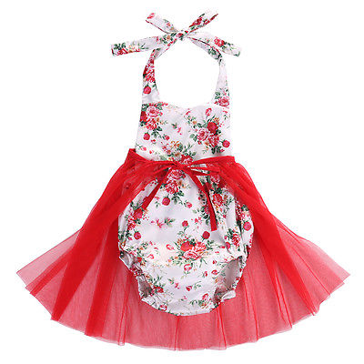 Summer Bloom Princess Tulle Romper - Baby Petite - Rompers
