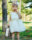Snowy White Princess Tulle Dress - Dresses - baby-petite