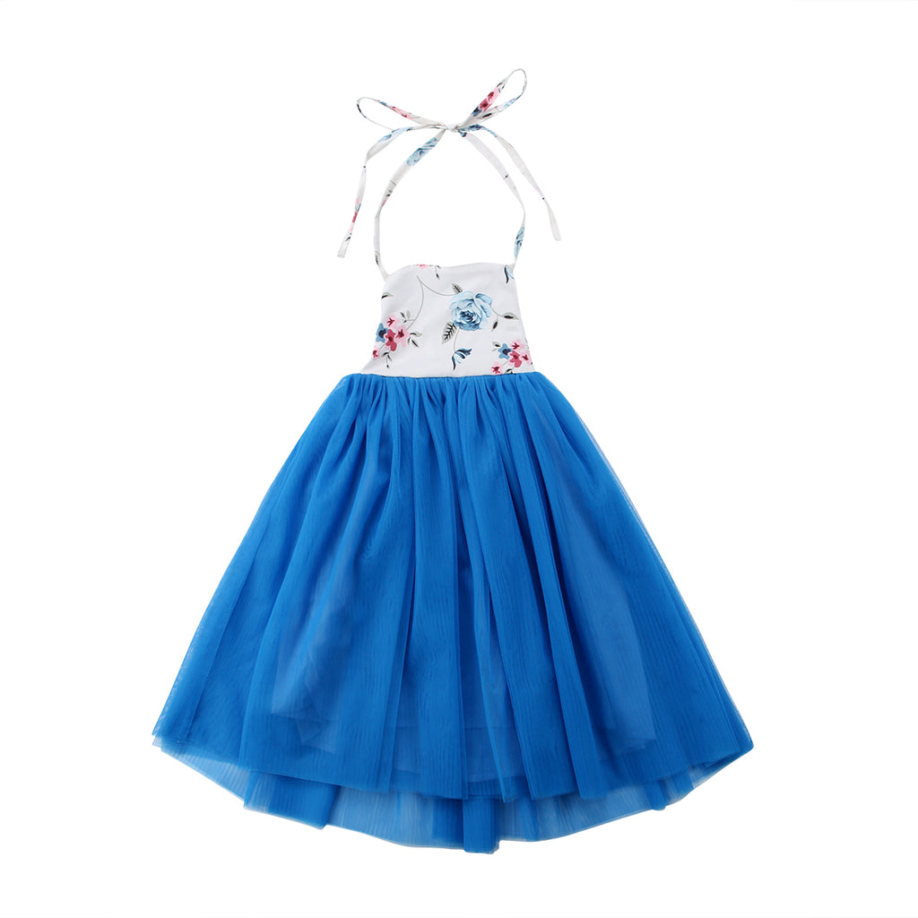 Summer Sea Blue Tulle Dress - Dresses - baby-petite