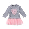Big Pink Heart Tulle Tutu Dress