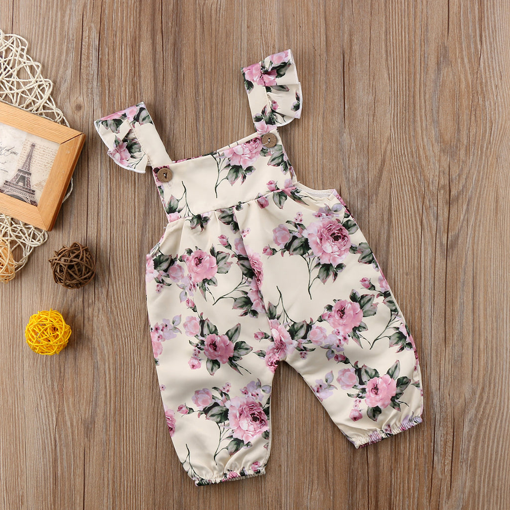 Pale Pure Pink Roses Romper - Rompers - baby-petite