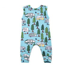Forest Happy Camper Romper