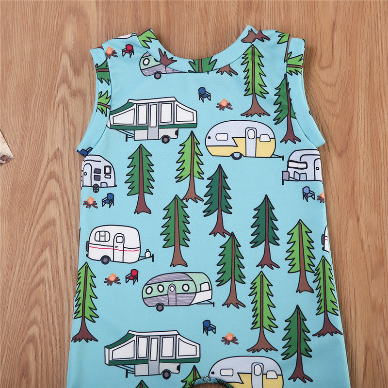 Forest Happy Camper Romper - Rompers - baby-petite