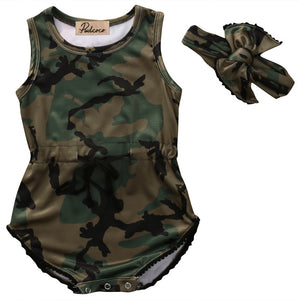 Camo Survival Girl Baby Romper Set - Kids Petite - Baby & Kids Clothing