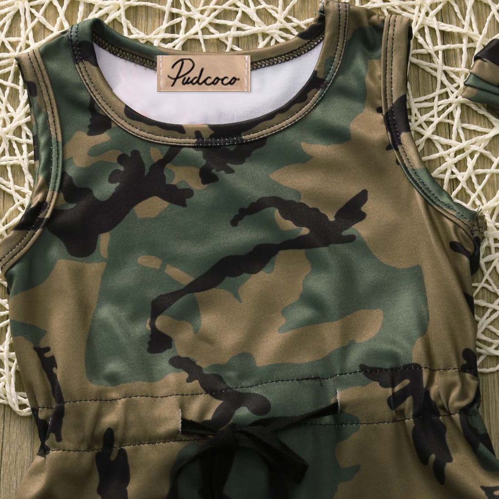 Baby Pink Camouflage Vest t-Shirt Girls Camo Army Cotton