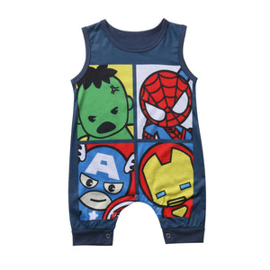 My Super Hero Friends Romper - Rompers - baby-petite