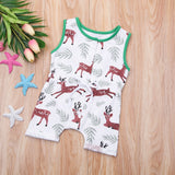 Forest Deer Fern Green Romper - Rompers - baby-petite