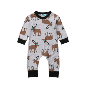 Moose Madness Long Sleeve Romper